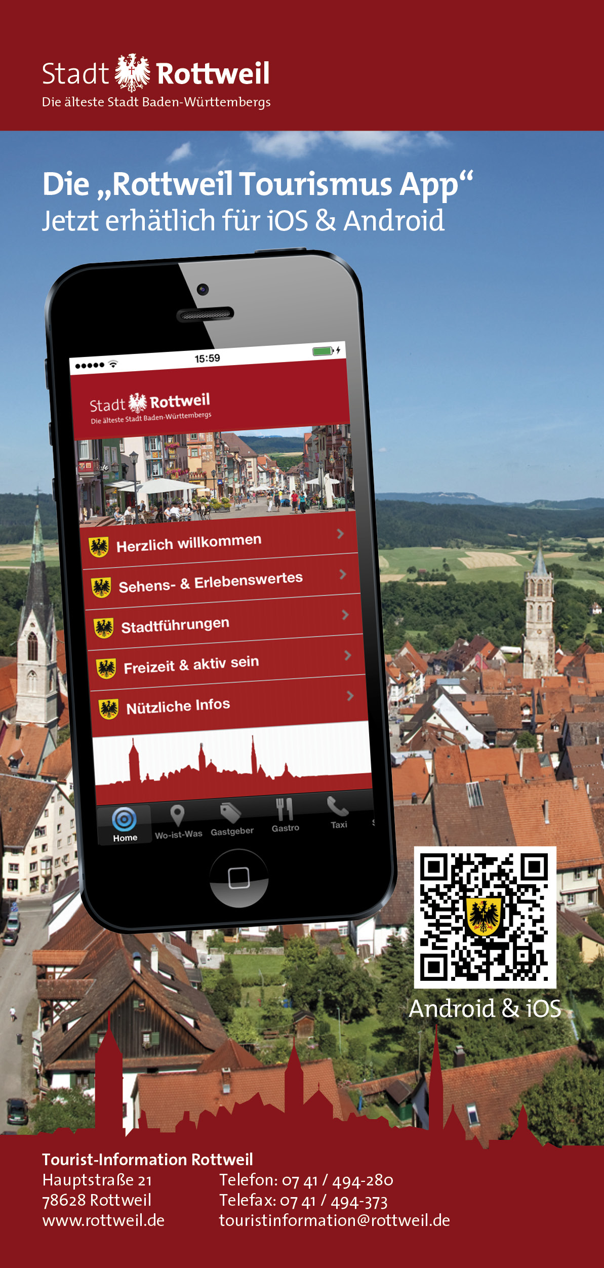 Tourismus App Rottweil
