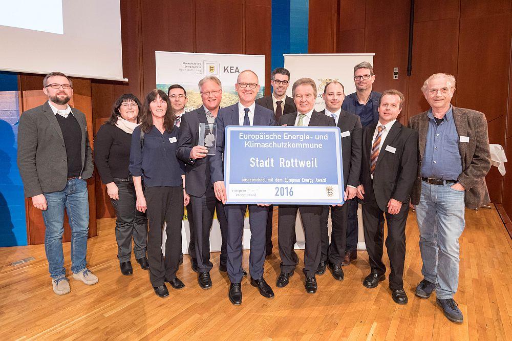Verleihung des European Energy Award durch Umweltminister Franz Untersteller