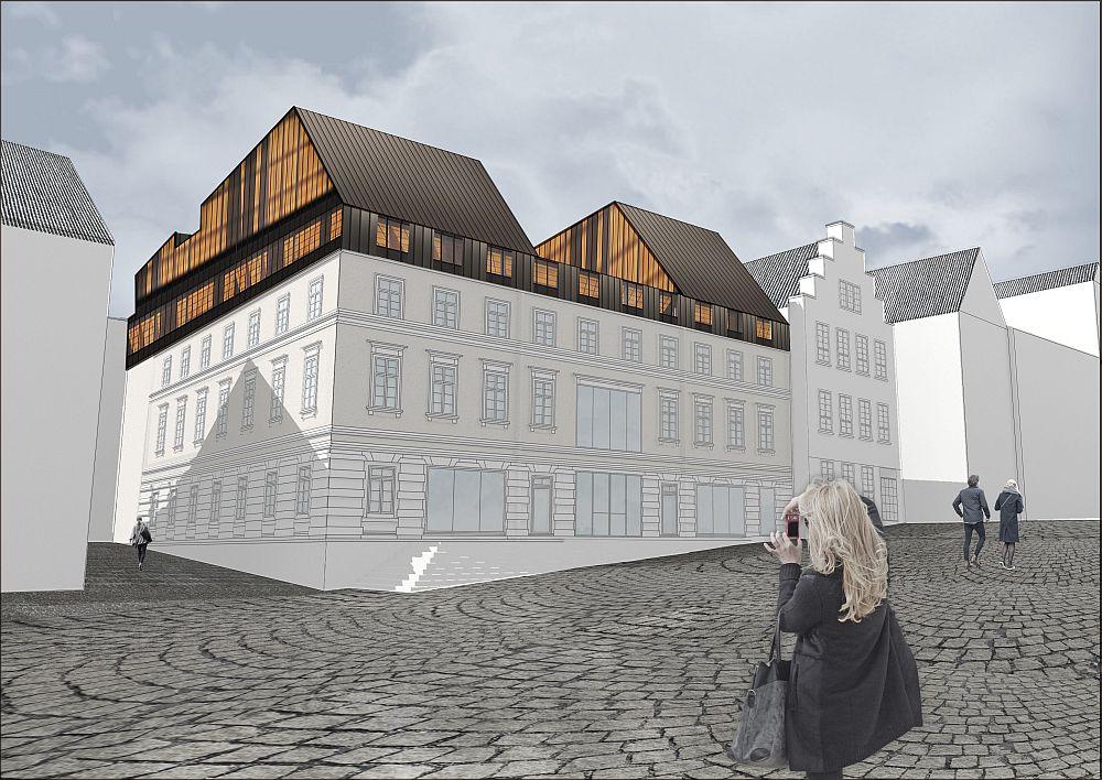 Entwurf Mode- und Wohnhaus Hauptstraße 26/28