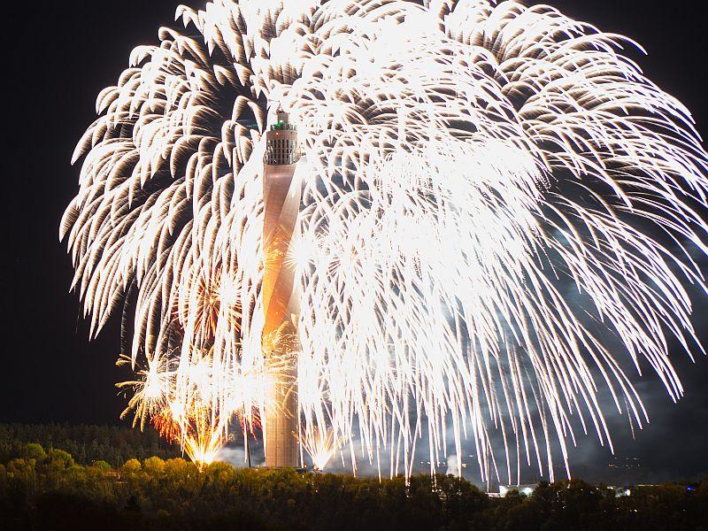 Feuerwerk am Testturm