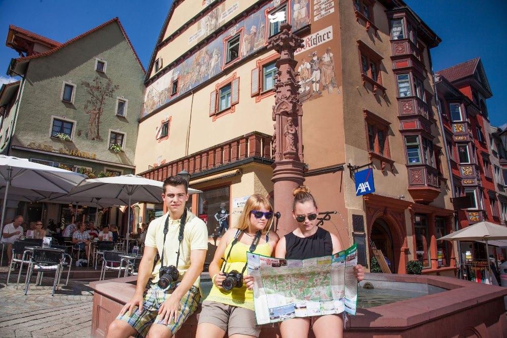 Touristen in Rottweil