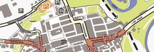 Stadtplan Rottweil Innenstadt
