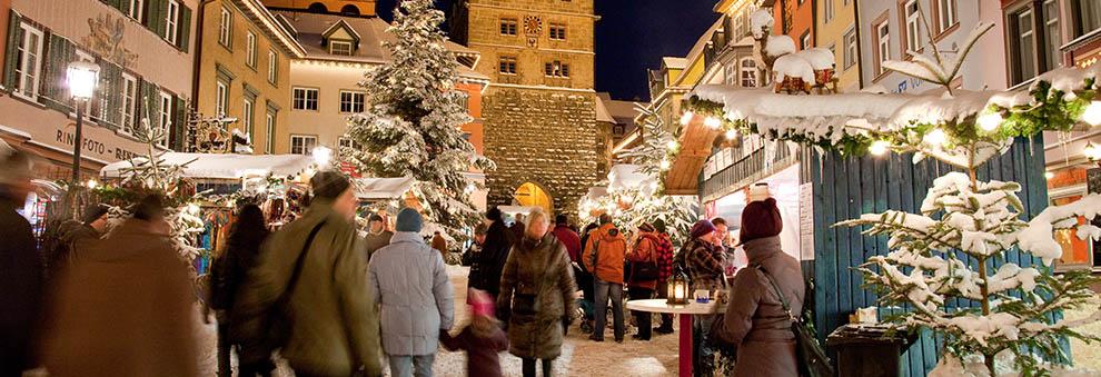 Weihnachtsmarkt Ende.Stadt Rottweil Die älteste Stadt Baden Württembergs Weihnachtsmarkt