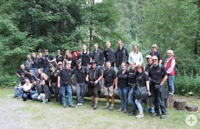 Gruppenfoto vom Ausflug 2017 ins Silbertal.