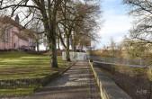 Visualisierung Fußgänger-Hängebrücke: Blick vom Pulverturm zum Dominikanermuseum