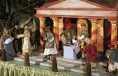 Die Herrenkramersche Krippe zeigt an Maria Lichtmess die Darstellung Jesu im Tempel (Foto: Stadtmuseum Rottweil).