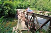 Die Brücke an der Spittelmühle ist in einem maroden Zustand und wird nun durch einen Neubau ersetzt (Foto: Stadt Rottweil).