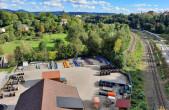 m Neckartal wird sich 2028 das Hauptgelände der Landesgartenschau befinden. Die Gleise sollen teilweise rückgebaut werden, das ENRW-Werksgelände im Vordergrund wird renaturiert (Foto: Stadt Rottweil).