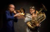 """Das Duo """"Low Planet"""" tritt bei """"Jazz im Refektorium"""" mit Johannes Maikranz im Rottweiler Kapuziner auf (Foto: Felix Groteloh)."""