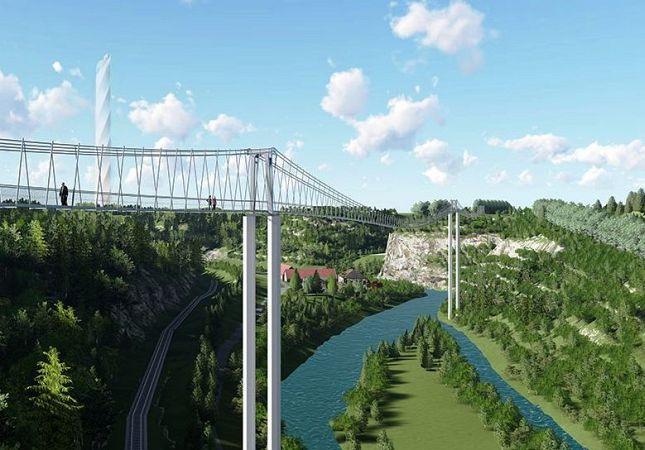 Visualisierung Hängebrücke