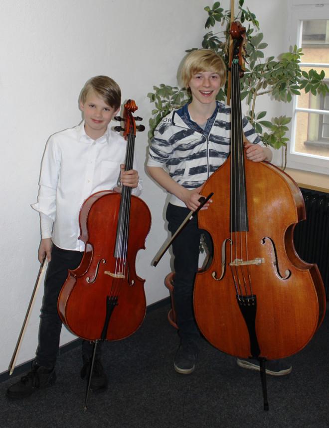 Landeswettbewerb Jugend musiziert: Hagen Dusold und Valentin-Schneider.