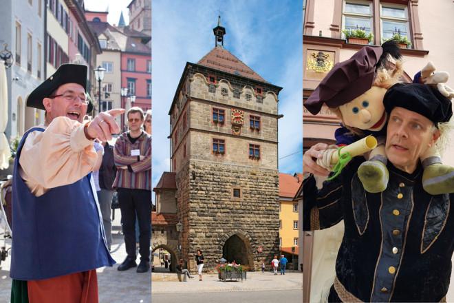 """Die Touristinformation der Stadt Rottweil hat neue Führungen im Schwarzen Tor im Programm. Für Kinder gibt es erstmals eine Führung mit Christoph Frank und bei der Führung """"Pulverrauch und Gottvertrauen"""" geht es ins 18. Jahrhundert (Fotos: Stadt Rottweil)"""