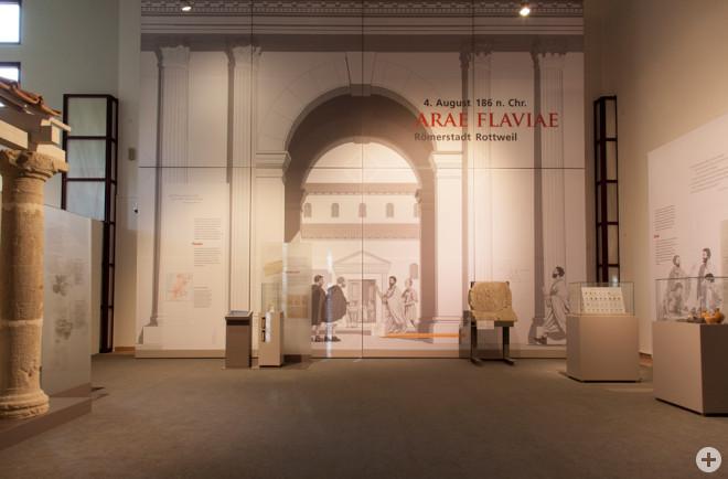 """Auf dem Forum wurden die Tagesgeschäfte abgewickelt – im Dominikanermuseum ist der zentrale Platz von """"Arae Flaviae"""" nachgebaut (Foto: Dominikanermuseum)."""