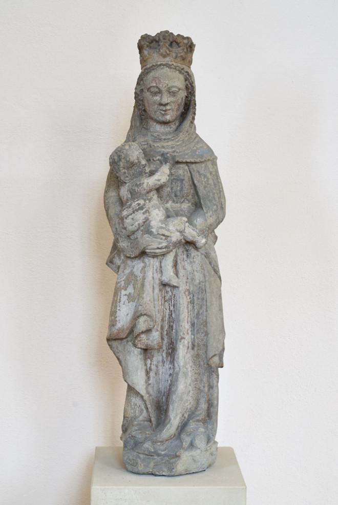 Unbekannter Meister (um 1370): Maria, das Kind stillend (Foto: Stadt Rottweil.)
