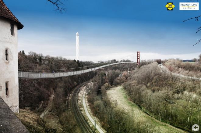 Hängebrücke vom Bockhof