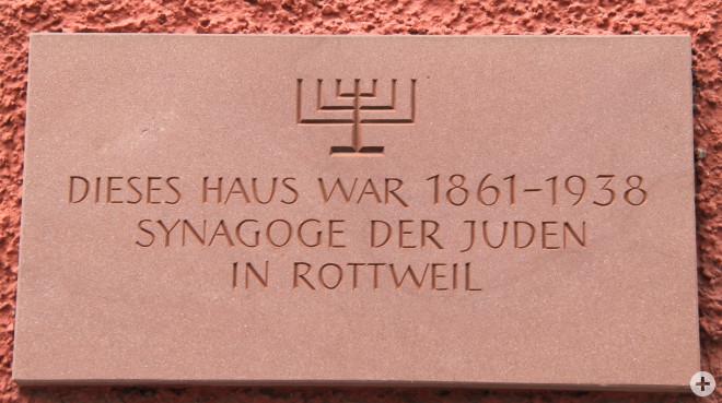 Inschrift ehemalige Synagoge