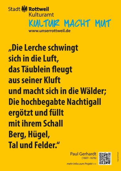 Plakat mit Zitat