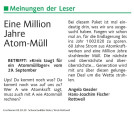 Leserbrief 02.10.20 Schwabo Atommüll