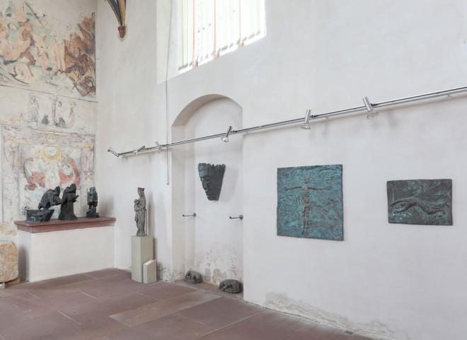 Ausstellung Kunst und Glaube von Siegfried Haas in der Lorenzkapelle in Rottweil.