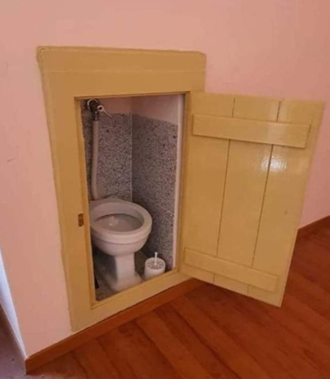 Gäste-Toilette im Miniformat