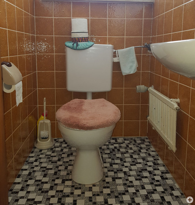 Toilette im Stil der 70er Jahre